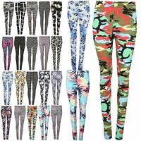 Ladies Army Floral Aztec Printed Stretchy Legging Womens Ankle Length Jeggings
