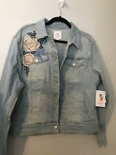 LulaRoe Harvey XXL 2XL Jean Jacket 🌸 Floral 🌺 BNWT VHTF Unicorn 🦄 Rare Find