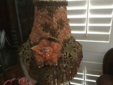 victorian style lampshade with vintage beaded fabric