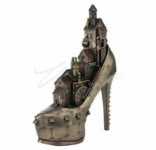 """Steampunk """"Stiletto Hill, Ironopolis"""" Figure Statue Sculpture - Mothers Day Gift"""