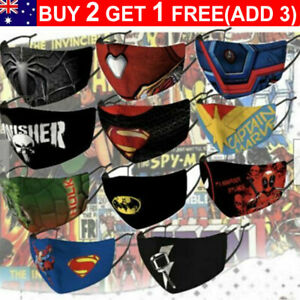 Superhero Marvel DC Washable Facemask Washable Protective Cover (Adults & Kids)
