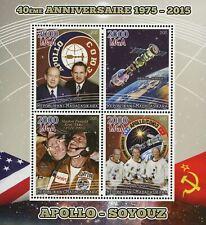 Madagaskar Apollo Soyouz Spaceship Ship Space Astronaut Souvenir Sheet of 4 Stam
