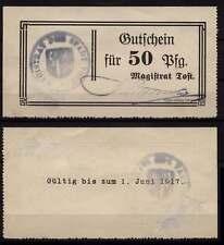 [16784]  - Notgeld TOST (heute: Toszek), Stadt, 50 Pf, -01.07.1917, Tieste 7380.