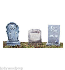 GRAVEYARD TOMBSTONE LIFESIZE STAKED YARD LAWN SIGNS HALLOWEEN DECORATIONS CUTOUT