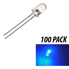 Blue 3mm LED 100 pcs 5000 MCD 25 Deg from USA For Various Use