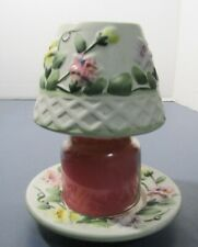 Yankee Candle Small Jar Shade & Plate Spring Flowers + 3.7 Candle - retired