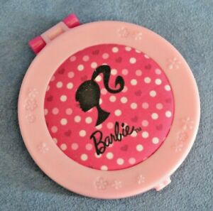 Barbie Mcdonalds Compact Mirror with Heart Comb 2009 Mattel Pink