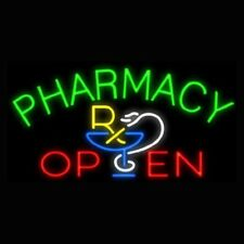 "New Pharmacy Open Beer Man Cave Neon Light Sign 20""x16"""