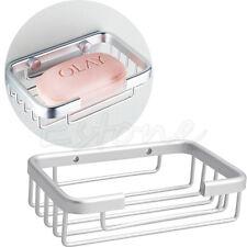 Bathroom Shower Soap Shampoo Holder Aluminum Space Bath Soap Dish Wall-Mounted