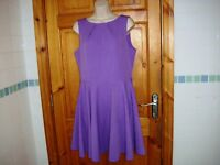 Ladies CLOSET size 14UK purple full skirt skater dress in excellent condition