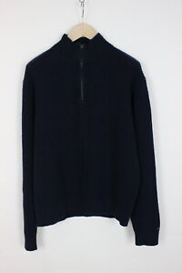TOMMY HILFIGER Men's X LARGE Knitted Half Zip Wool Blend Sweater 32892_GS