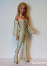 Vintage / TNT Body Barbie Clothes Gold Jumpsuit & Necklace Fashion NO DOLL d4e