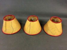 Set of 3 Antique Lampshade European Peacock in Cardboard of Lamp Fix on Bulb