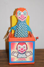 Vintage Mattel Jack in the Box Music Box Clown Pop-Up Toy 1976 POPS UP