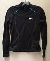Louis Garneau Women's Cycling Jacket 1/4 Zip Black Size Small Pullover