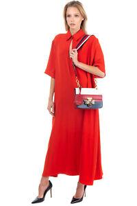 RRP €2535 GUCCI Queen Margaret Bee Leather Shoulder Bag Web Strap BLIND FOR LOVE