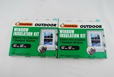 "2 Frost King Outdoor Window Film Insulation Kit, 42 X 62"" Thermwell V93 Standad"