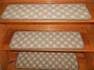"""13 = Step 9"""" x 30"""" + Landing 30"""" x 28'' Stair Treads Staircase Wool Woven Carpet"""