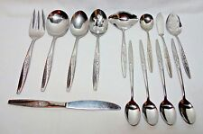 GAITY BY HULL Mid Century STAINLESS STEEL FLATWARE 8 Serving Pcs 4 Iced Tsp