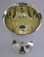 QUALITY ENGLISH STERLING SILVER GOBLET CHALICE 1991 138g SUPERB