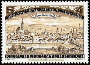 EBS Austria 1980 - 1000 Years of the City of Steyr - ANK 1676 MNH**