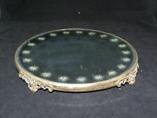 "Old Victorian 12"" Mirrored Plateau Display Stand With Beveled Star Cut Mirror"
