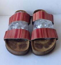 Naot Women's Bianca Red Striped Sandal Clog Slide Size US 9/EU 41