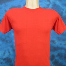Nos vintage 80s Blank Red Screen Stars Paper Thin T-Shirt Xs surf beach soft