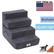 Pet Stairs 4 Steps Soft Portable for Cat Dog Climb Ladder Cover Indoor Outdoor