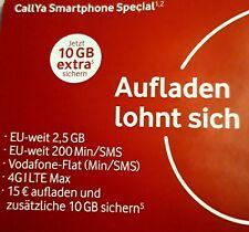 WoW D2 Vodafone Callya Prepaid Smartphone 2,5GB & 200min. Micro Nano Sim Karte
