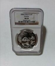 2006 NGC MS69 China Panda Silver 10 Yuan