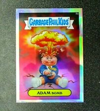 Topps Garbage Pail Kids Adam Bomb Refractor Chrome 8a Mint condition.