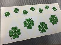 Kit 11 Adesivi Stickers ALFA ROMEO Quadrifoglio Verde Carbon Green 3 e 6 cm