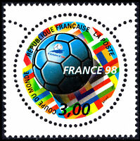 France 1998, World Football Cup, Commemorative Round Stamp MNH