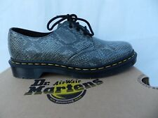 Dr Martens 1461 Viper Chaussures 39 Derby Reptile Richelieu Gris Snake UK6 Neuf