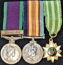 POST WW2 AUSTRALIAN MINIATURE MEDAL GROUP BORNEO & VIETNAM SERVICE