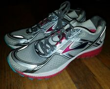 NEW Brooks Ghost 8 Pink White Teal Womens 11 Narrow Running Shoes Metallic Gym