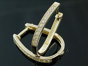 585 Gold Klappcreolen Grösse 17,8 mm x 25 mm 1 Paar mit Zirkonia Steinen