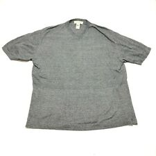 Vintage Pronto Uomo Sweater Mens XL 54 Gray V Neck Lightweight Short Sleeve