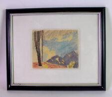 Josef MENG (1887-1974 Tirol) Wanderskizze - Buntstift - Gebirgszug in Tirol