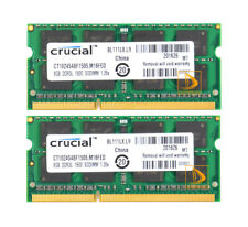 Crucial 16GB 2X 8GB PC3L-12800 DDR3L-1600MHz 204Pin SoDIMM Laptop Memory RAM