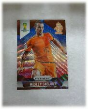 2014 Panini Prizm World Cup Blue Red Wave Wesley Sneijder - Netherlands #33