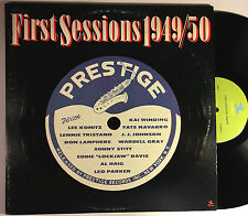 FIRST SESSIONS 1949/50 Various: Tristano, Winding, Stitt, more 2-LP Prestige VG+