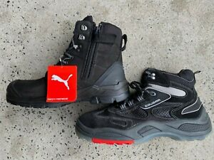 PUMA Conquest ZIP sider BLACK 630737  WORK BOOT top of the range PUMA +FREEshoes