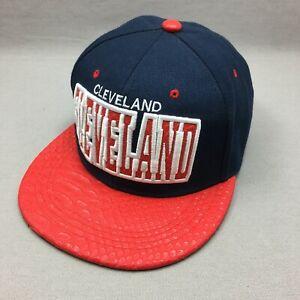Cleveland Hat Cap Snap Back Mens Blue Red Logo