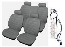Bloomsbury Grey Leather Look 8 PCE Car Seat Covers For Chevrolet Alero, Aveo, Sp