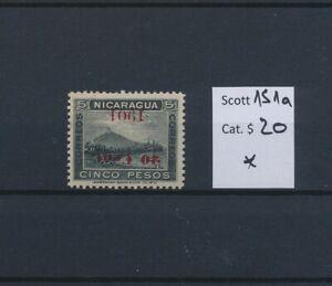 LO45000 Nicaragua 1901 inverted overprint classic lot MH cv 20 EUR