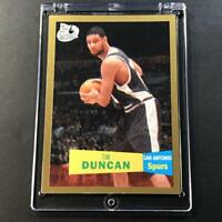 TIM DUNCAN 2007 TOPPS 50TH ANNIVERSARY #21 57-58 GOLD PARALLEL CARD SPURS NBA