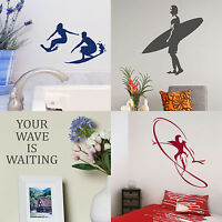 Surfing Wall Stickers Surfer Home Vinyl Transfer Graphic Surf Board Decals Decor