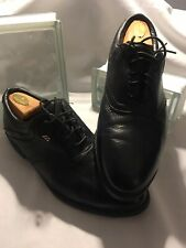 Mizuno Men's Size 10 M Black Leather Lace-Up Golf Shoes with Plastic Spikes